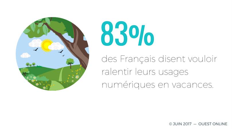 Usages des Français en vacances - graphique
