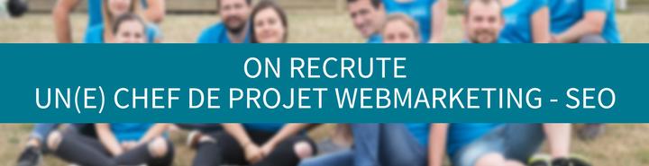 Annonce pour un poste de chef de projet webmarketing SEO - Ouest Online - Rennes