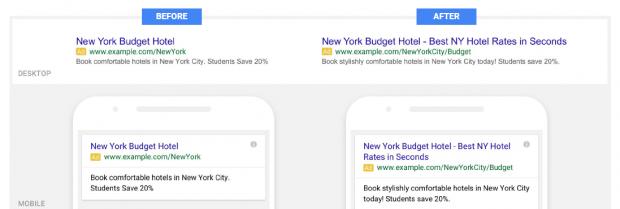 Les Expanded Text Ads : des liens sponsorisés plus longs