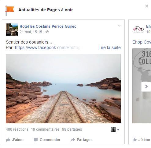Facebook teste un nouvel affichage : le carrousel pour suivre l'actualité des pages